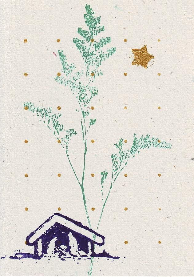 Tree Mixed Media - Christmas Card by Mary Adam