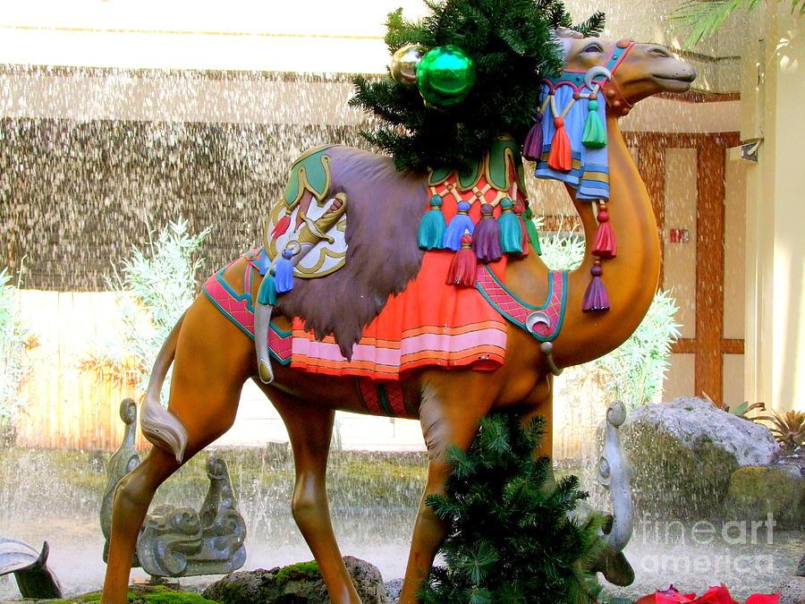 Carousel Photograph - Christmas Carousel Camel by Mary Deal