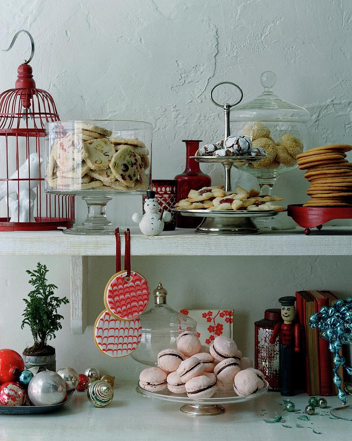 Christmas Cookies And Ornaments Photograph by Romulo Yanes