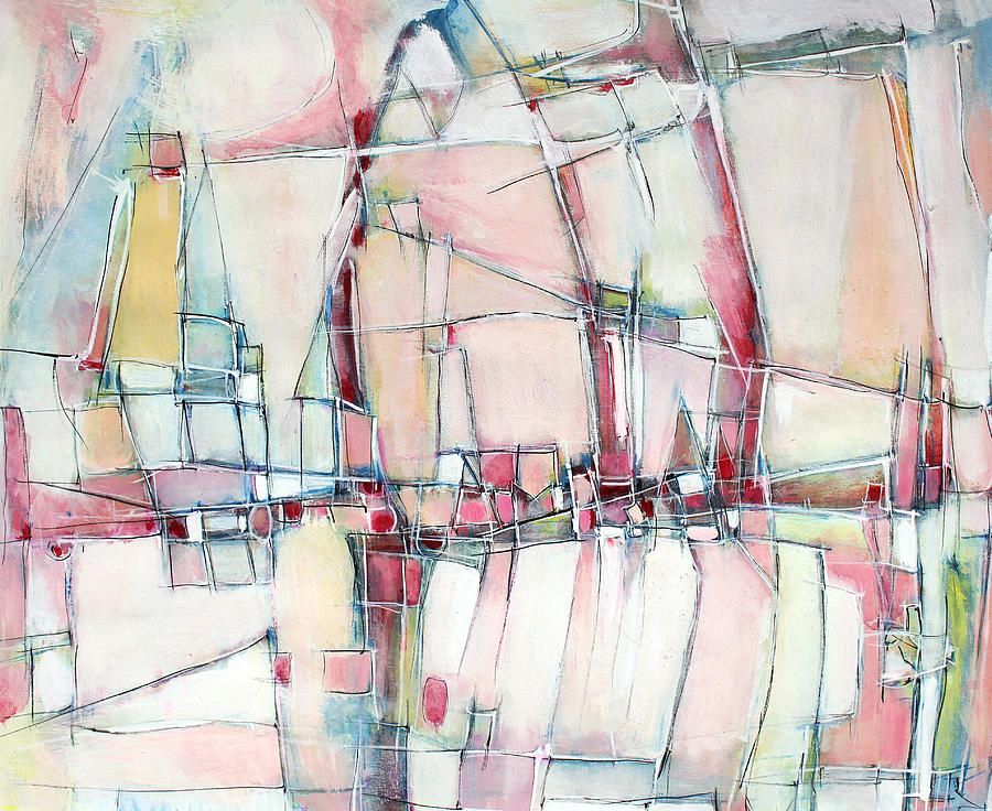 Abstract Painting Painting - Christmas Day by Hari Thomas