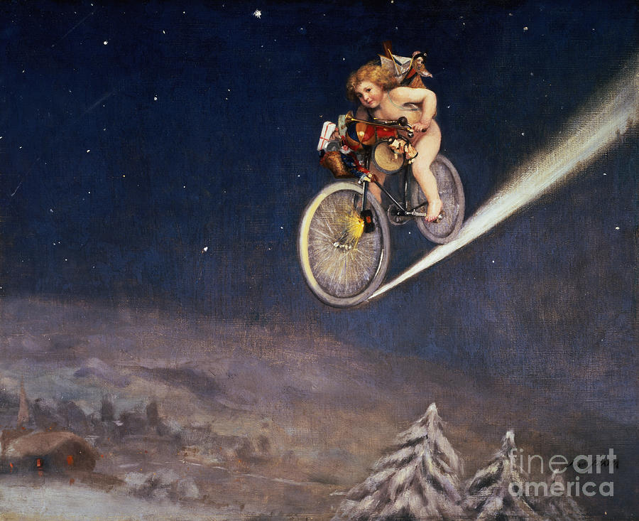 Child Painting - Christmas Delivery by Jose Frappa