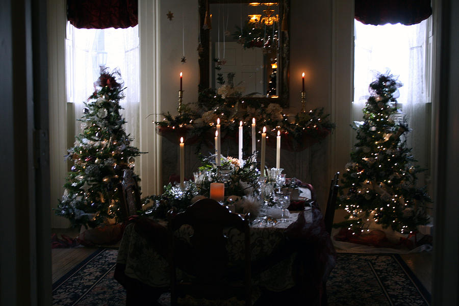 Christmas Photograph - Christmas Dinner At The Mansion by Kay Novy