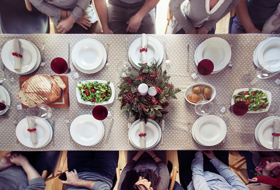 Christmas Dinner Photograph by Orbon Alija