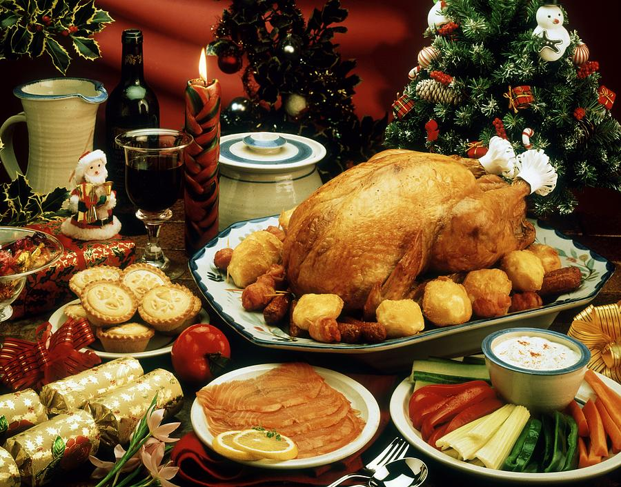 Appetizing Photograph - Christmas Dinner by The Irish Image Collection