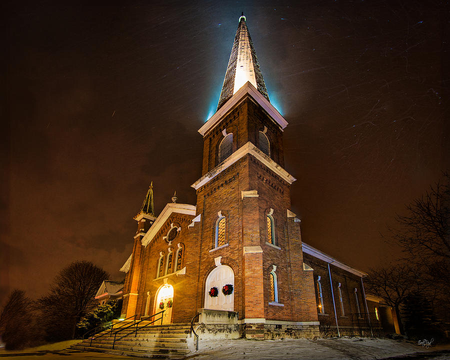 First Congregational Photograph - Christmas Eve by Everet Regal