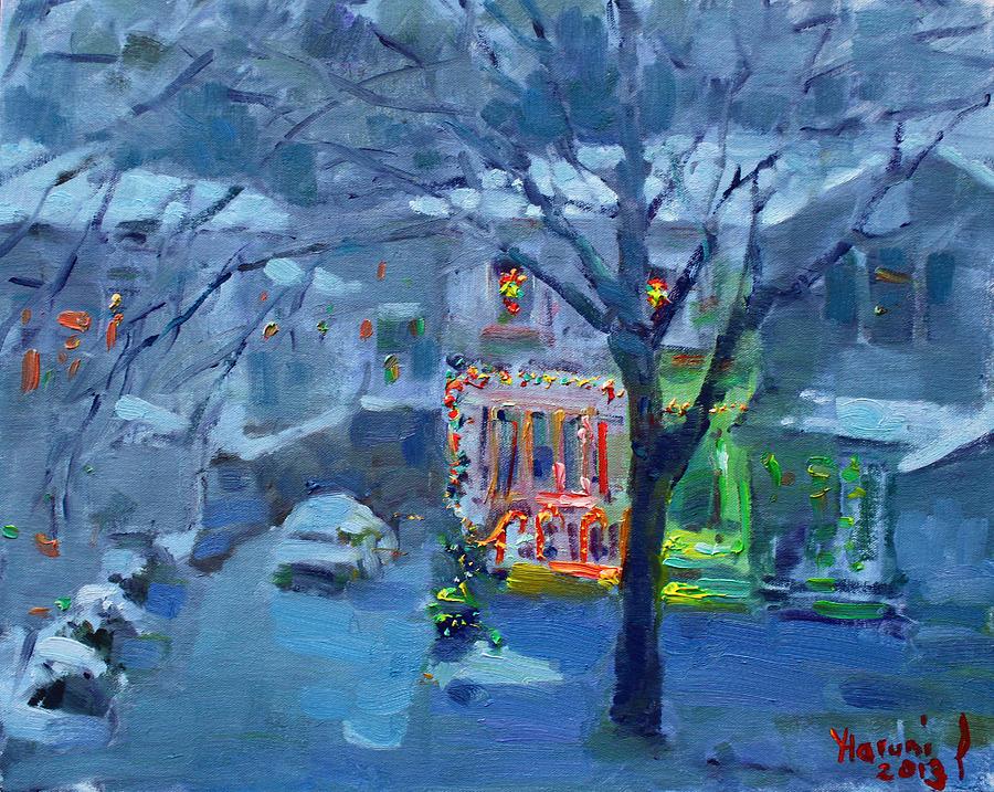 Christmas Eve Painting - Christmas Eve by Ylli Haruni