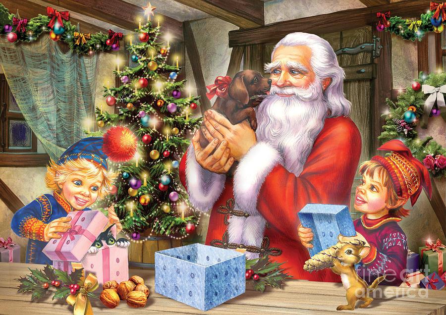 Seasonal Digital Art - Christmas Eve by Zorina Baldescu