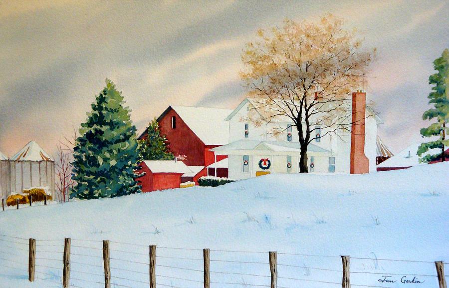 Resultado de imagem para christmas  farm painting