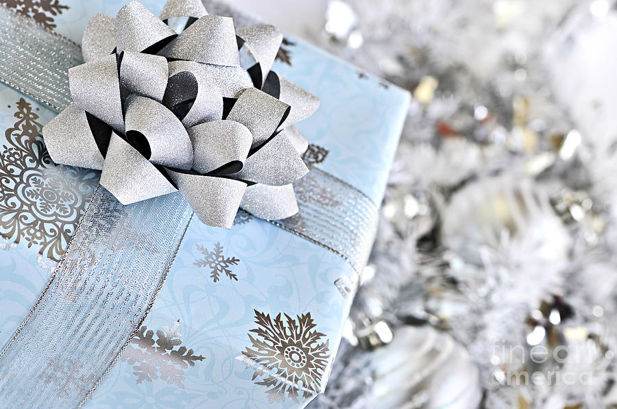 Gift Photograph - Christmas Gift Box by Elena Elisseeva