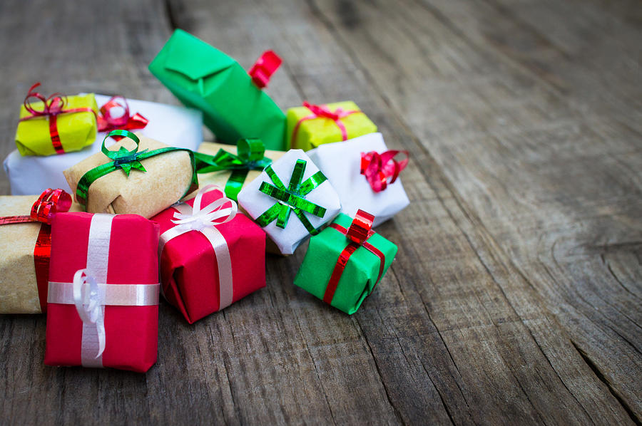 Christmas Photograph - Christmas Gifts by Aged Pixel
