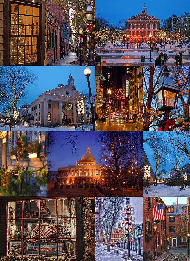 Boston Photograph - Christmas In Boston by Joann Vitali