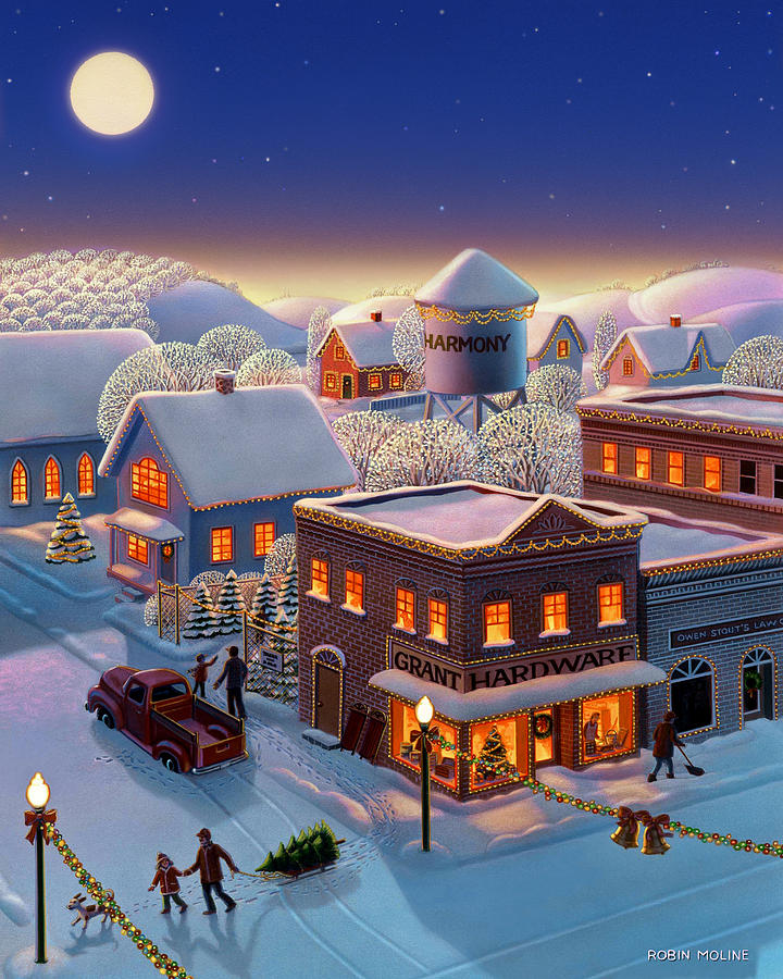 Americana Painting - Christmas In Harmony by Robin Moline