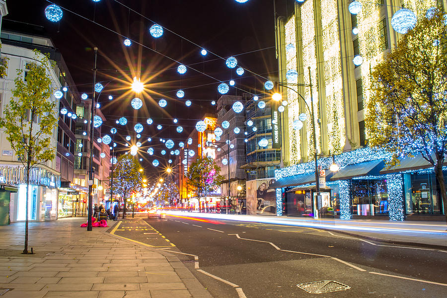 Christmas Photograph - Christmas In Oxford Street by Andrew Lalchan