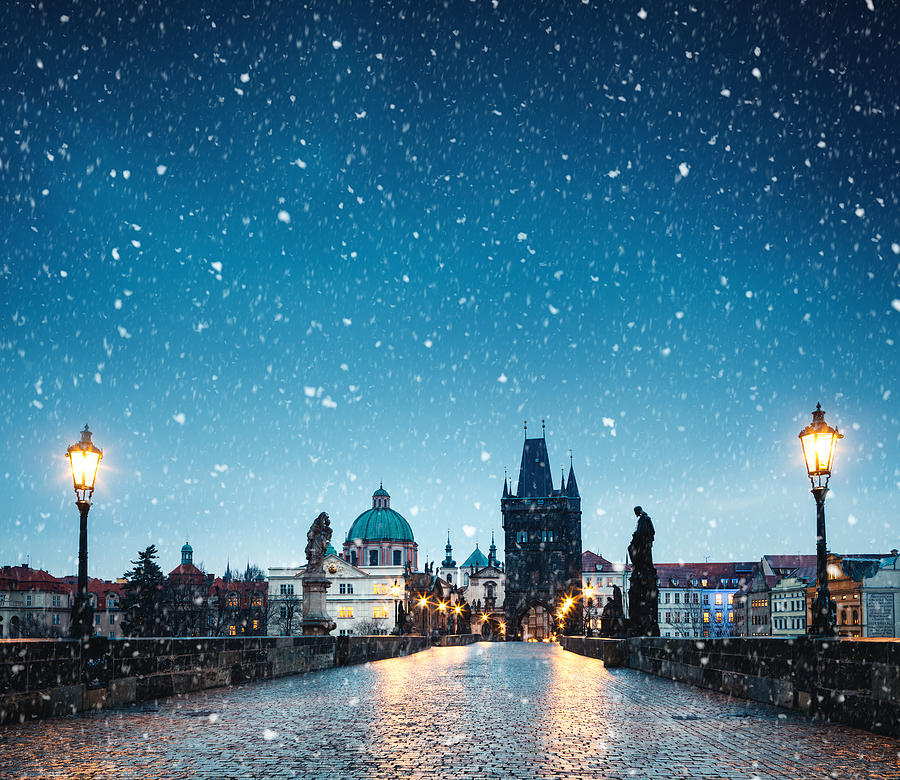 Christmas In Prague Photograph by Borchee