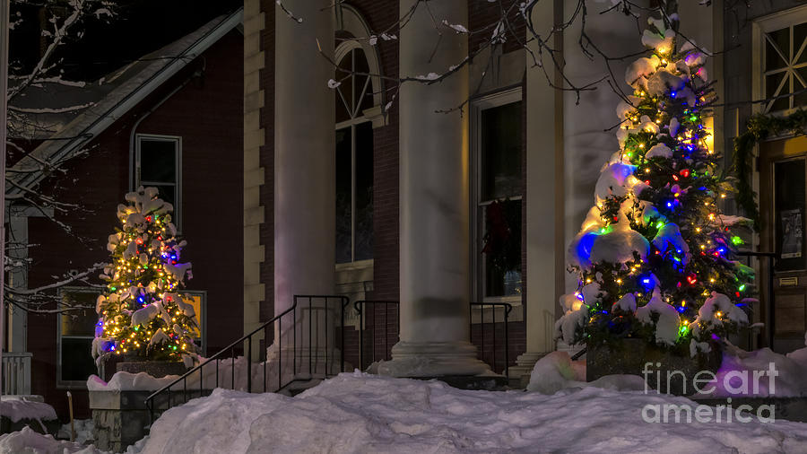 Christmas In Stowe Vermont. Photograph