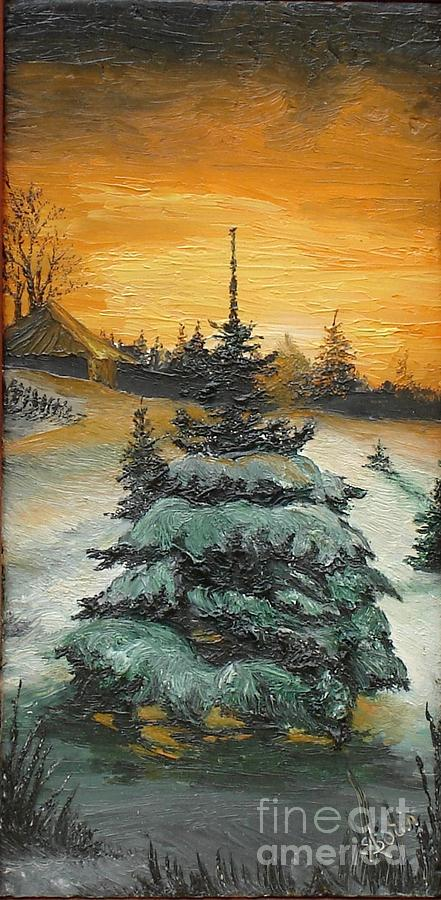 Winter Painting - Christmas Is Coming by Sorin Apostolescu