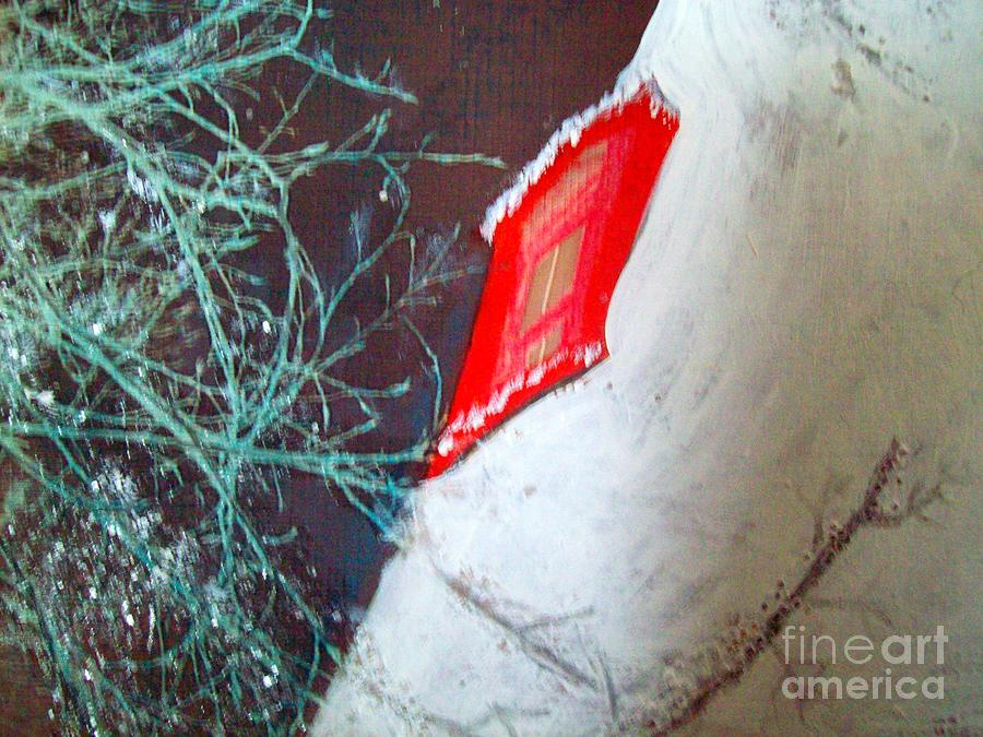 Holiday Mixed Media - Christmas Lighthouse Love by Jackie Bodnar