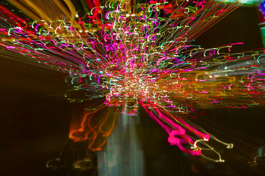 Exploding   Lights  Photograph by Clive Beake