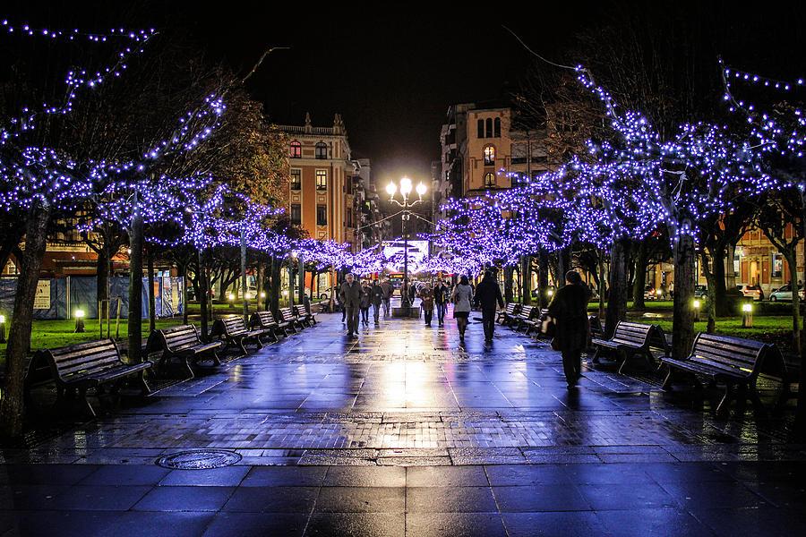 Christmas Photograph - Christmas Lights In Gijon by Sam Garcia