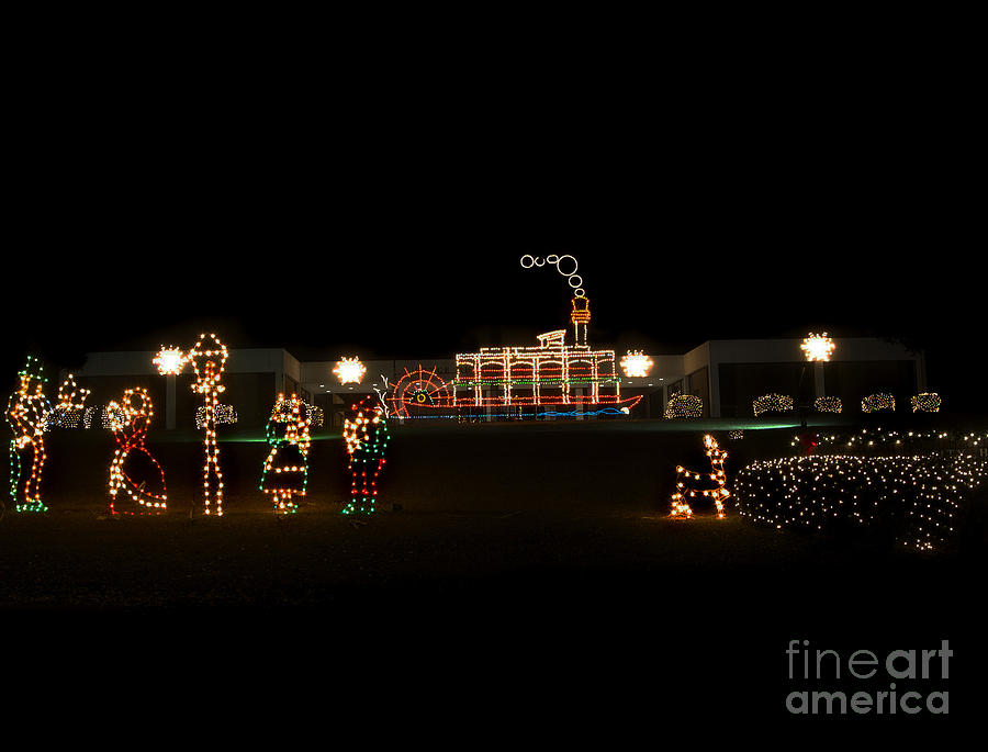 Scenic Tours Photograph - Christmas Lights by Skip Willits