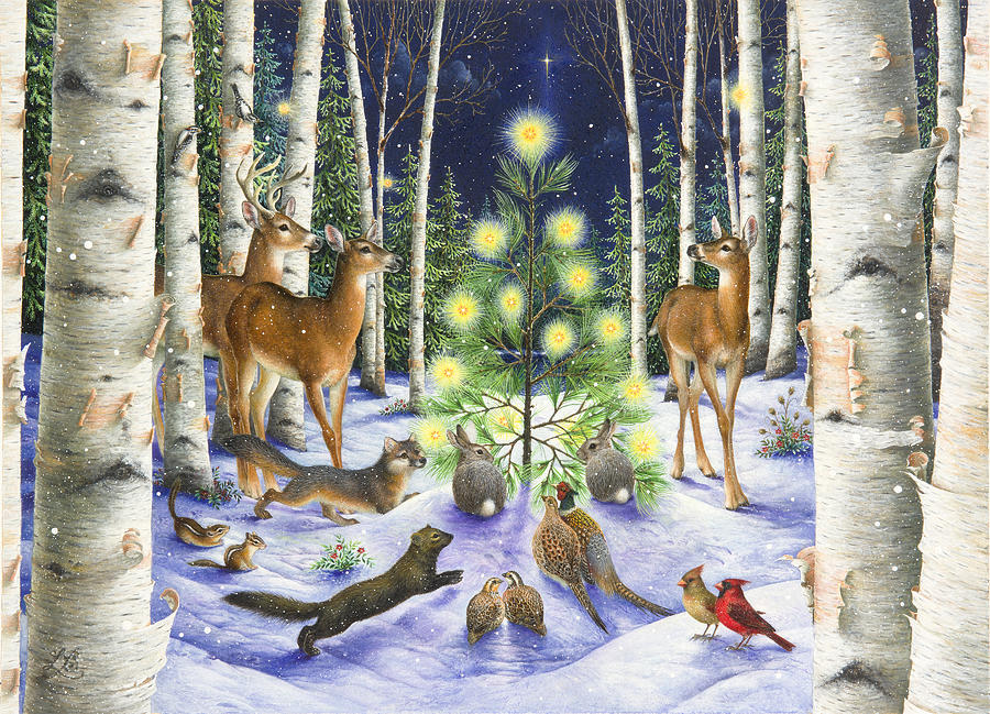 Christmas Magic Painting By Lynn Bywaters