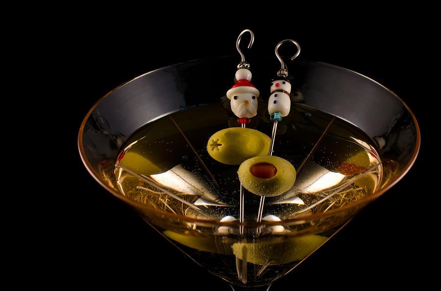 Santa Claus Photograph - Christmas Martini by Ron White