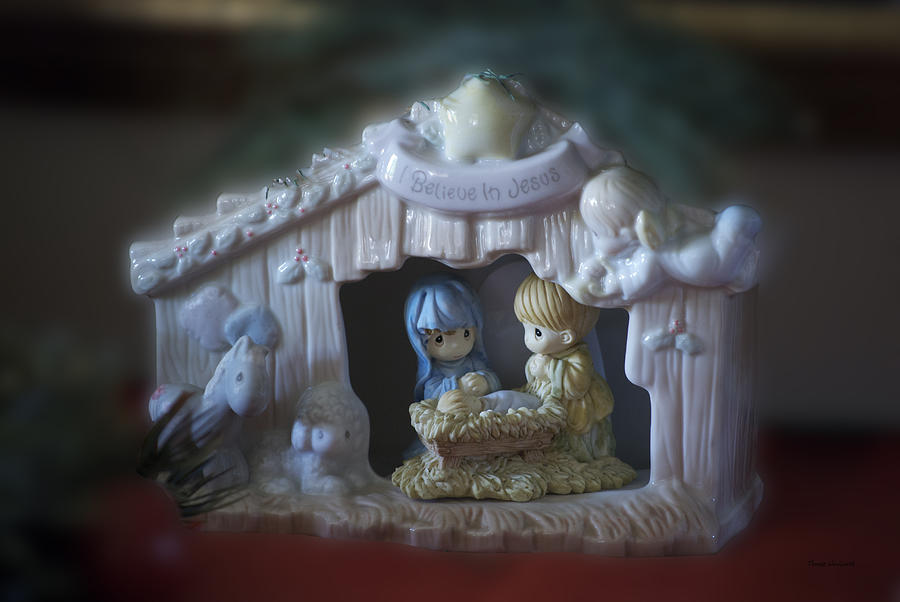 Jesus Photograph - Christmas Nativity Scene by Thomas Woolworth