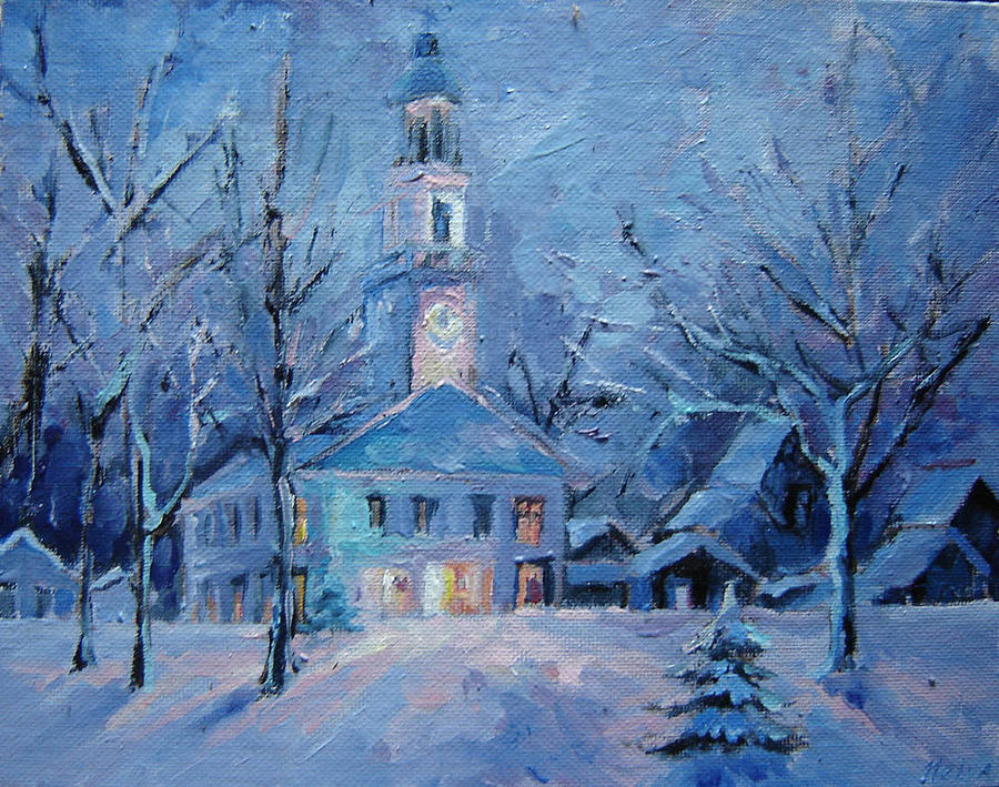 Painting Painting - Christmas by Nelya Shenklyarska