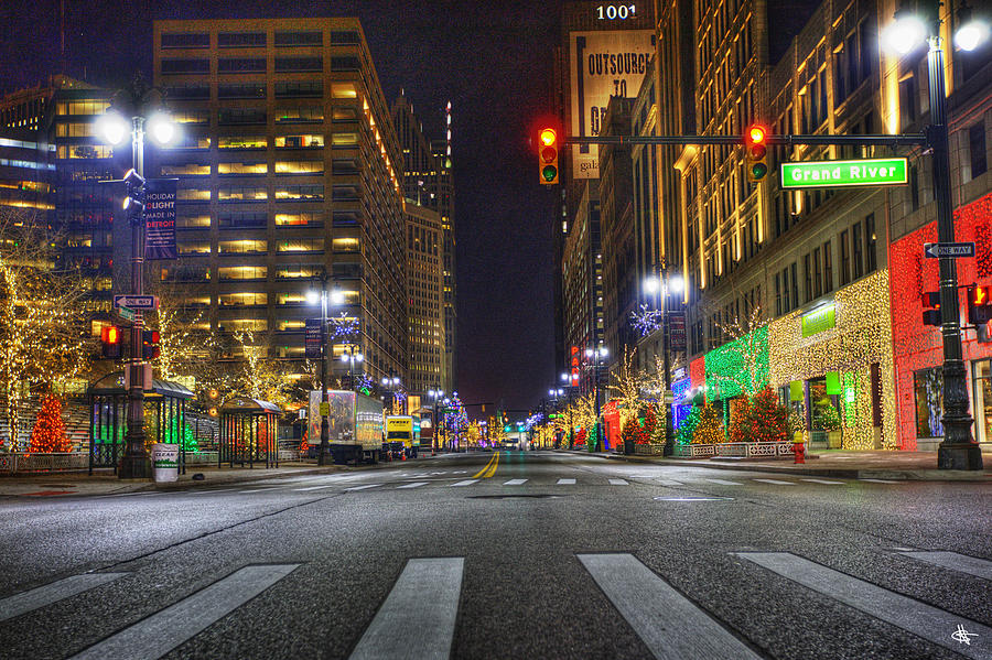 Christmas On Woodward Ave Detroit Mi Photograph By A And N Art