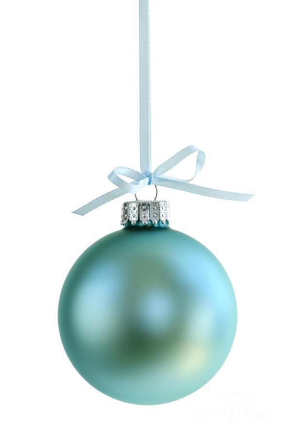 Christmas Photograph - Christmas Ornament On White by Elena Elisseeva