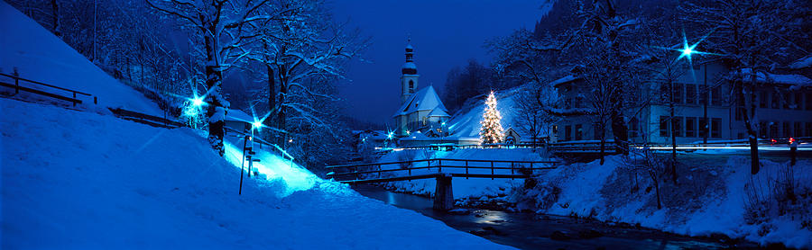 Color Image Photograph - Christmas Ramsau Germany by Panoramic Images