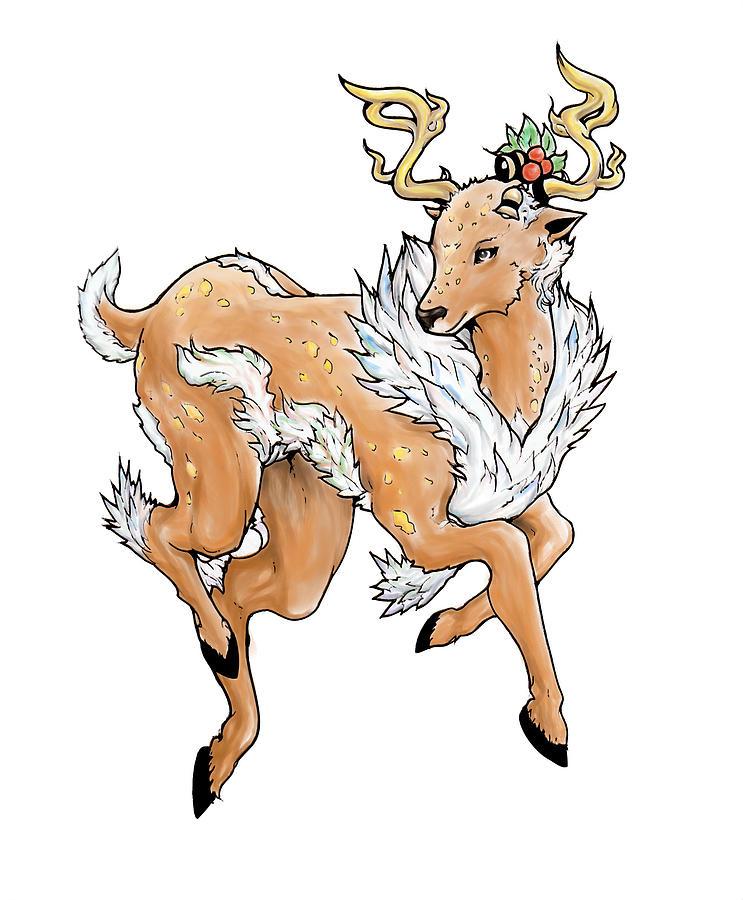 Reindeer Digital Art - Christmas Reindeer by Miguel Karlo Dominado