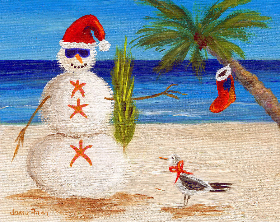 Christmas Painting - Christmas Sandman by Jamie Frier