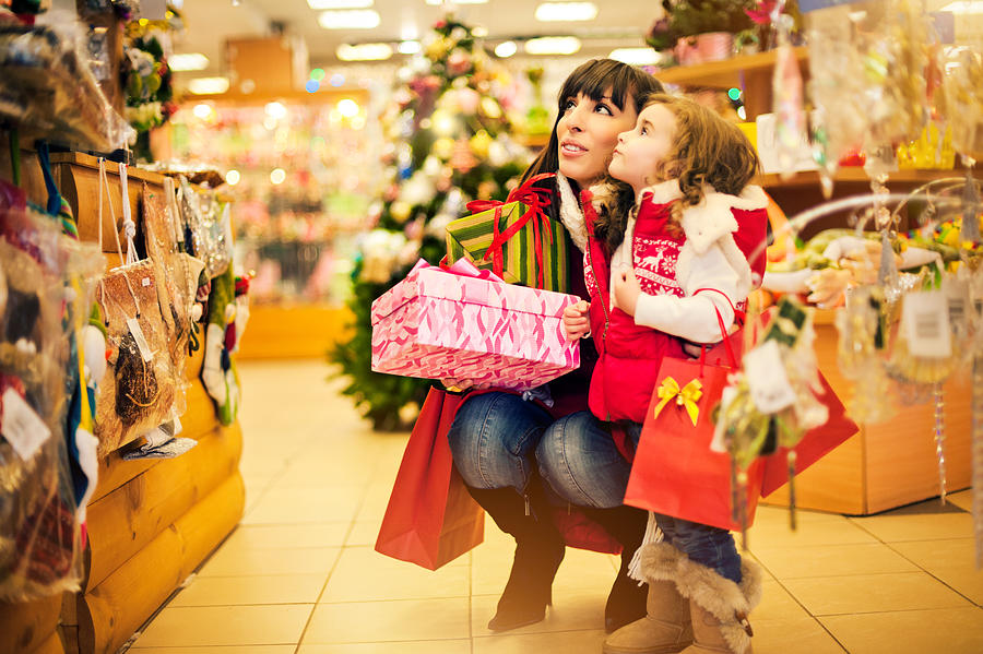 Christmas shopping Photograph by ArtMarie