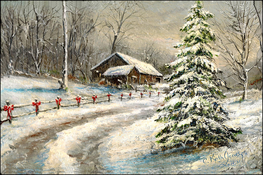 Christmas Painting - Christmas Snow by C Keith Jones