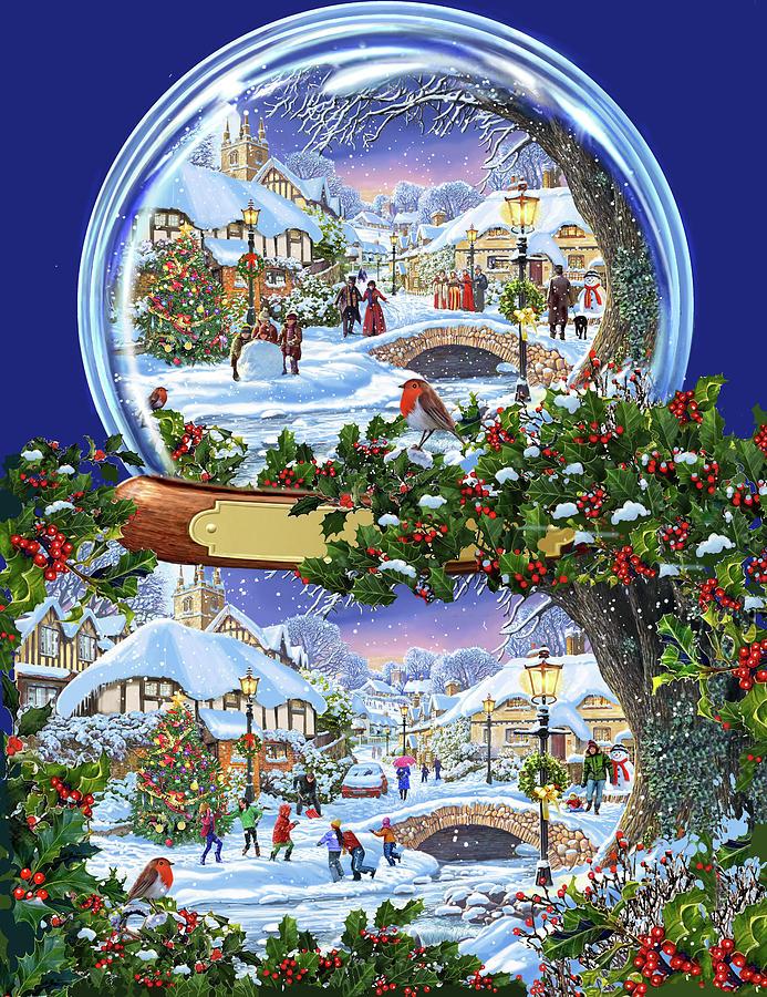 A Christmas Snow.Christmas Snow Globe