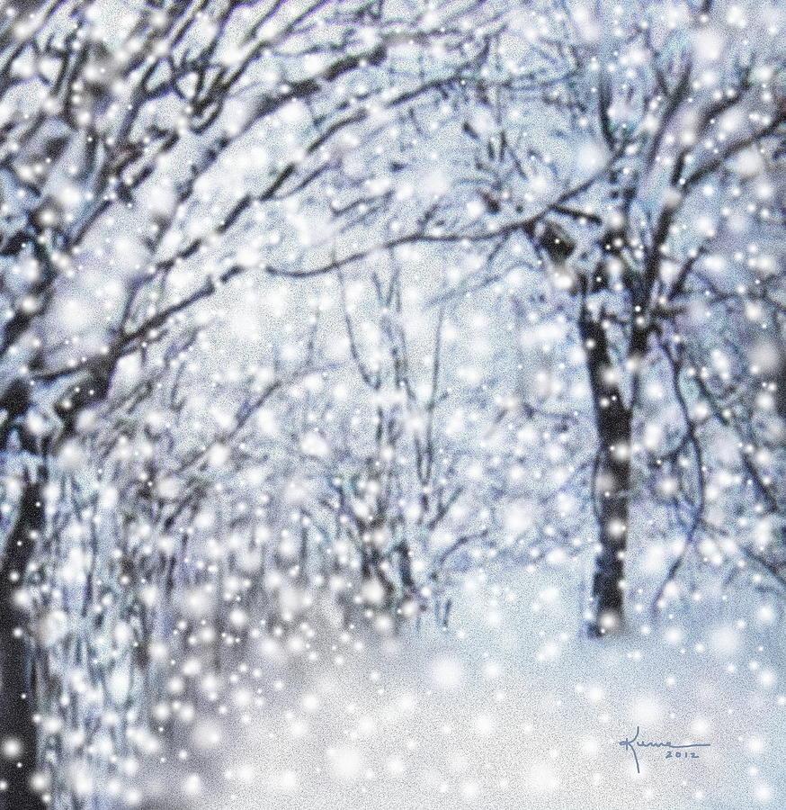 Christmas Snow Digital Art By Kume Bryant