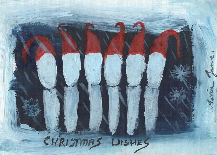 Dental Painting - Christmas Song by Mrs Wilkes Art