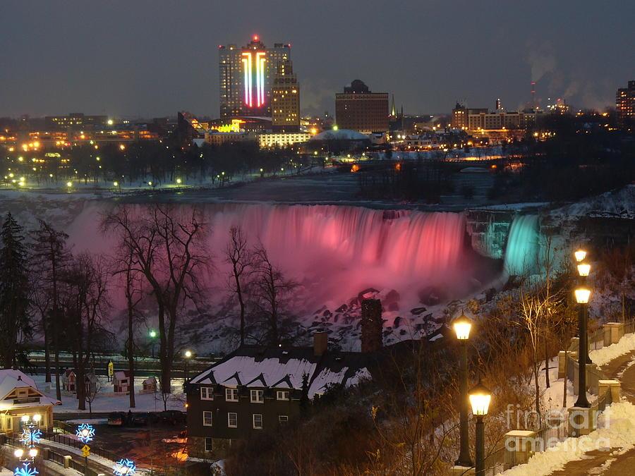 Christmas Spirit At Niagara Falls Photograph by Lingfai Leung