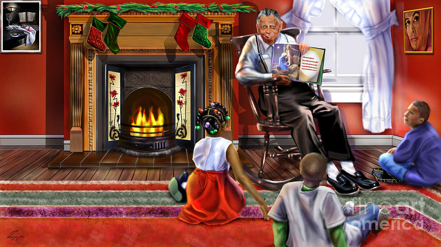 Jesus Painting - Christmas Story by Reggie Duffie