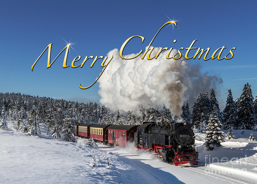 Christmas Train Photograph by Christian Spiller