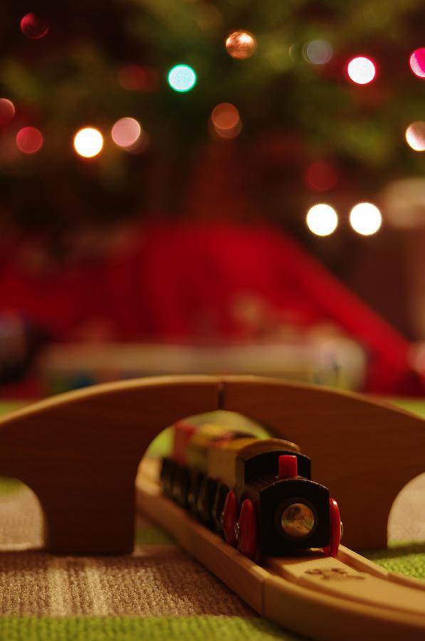 Christmas Photograph - Christmas Train by John Ayo