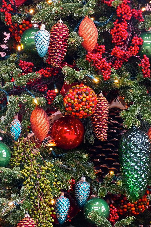 Ornate Christmas Trees Photograph - Christmas Tree Cheer by Byron Varvarigos