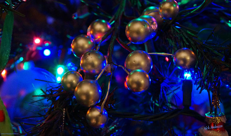 Christmas Photograph - Christmas Tree Detail 1 by Mick Anderson