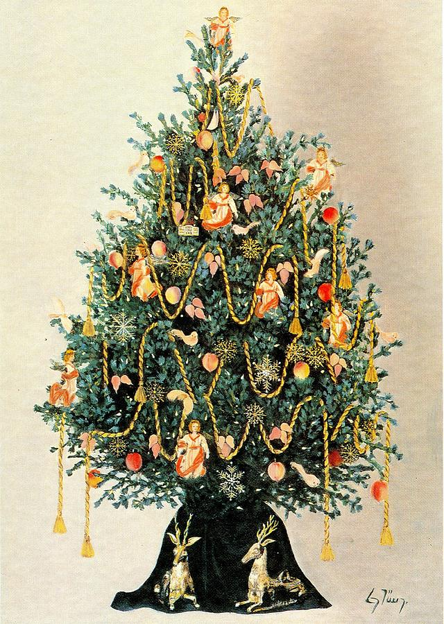 Christmas Tree With 18th Century Williamsburg Ornaments ...