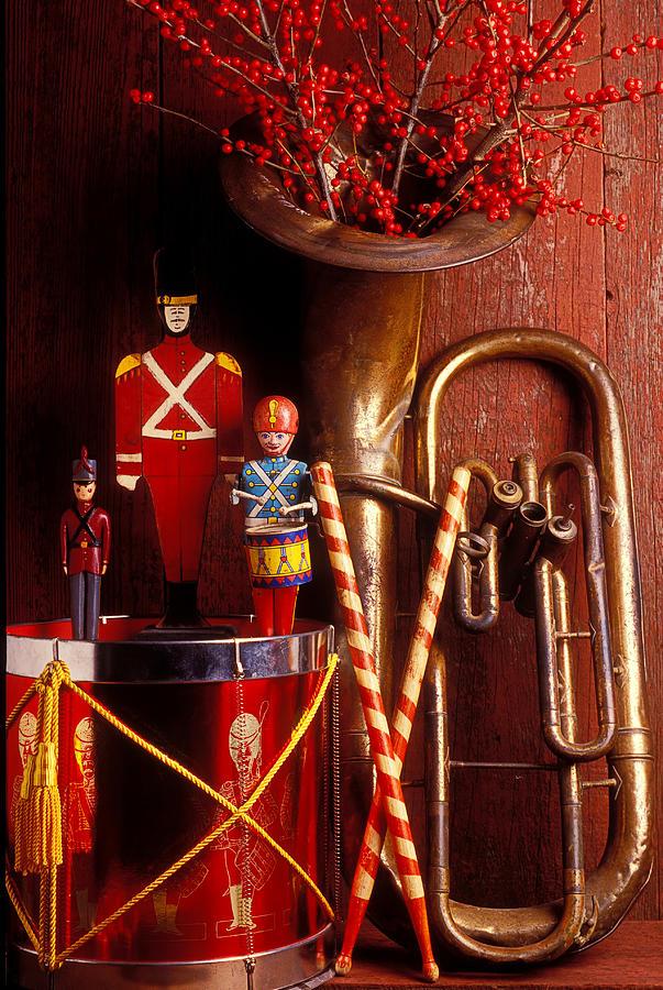 Christmas Tuba Photograph - Christmas Tuba by Garry Gay