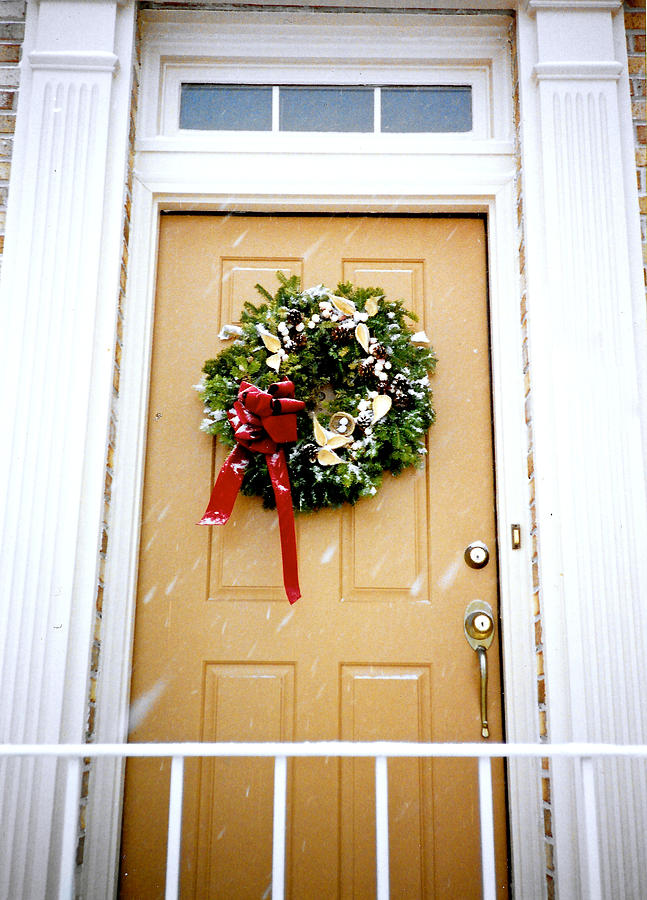 Photograph Painting - Christmas Welcome by Brenda Ruark
