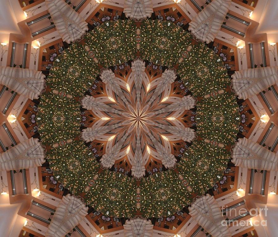Kaleidoscope Photograph - Christmas Wreath by Lena Photo Art