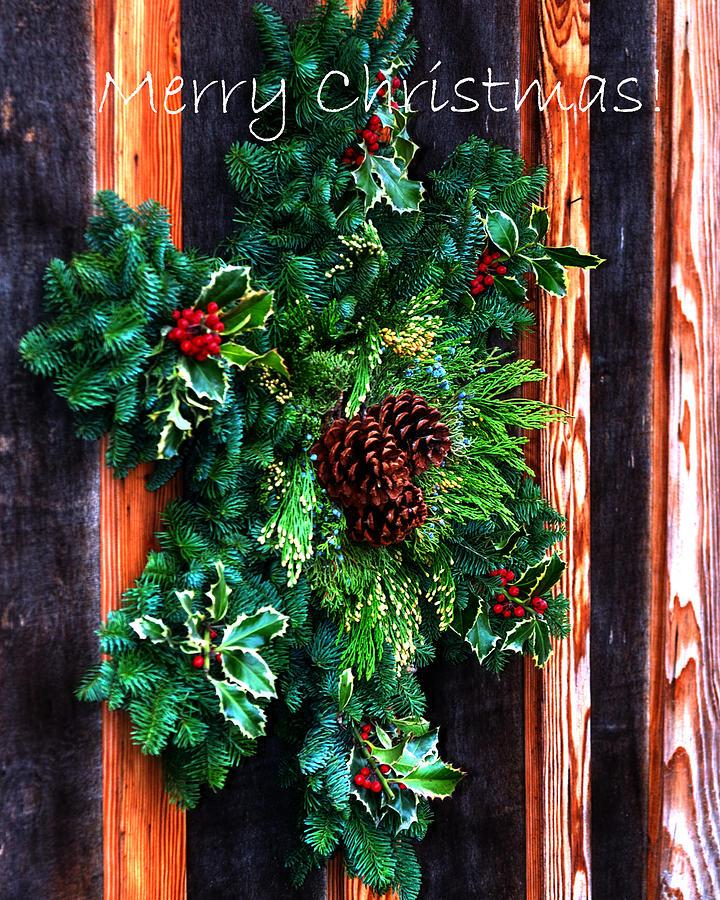 Christmas Wreath Text 20474 Photograph