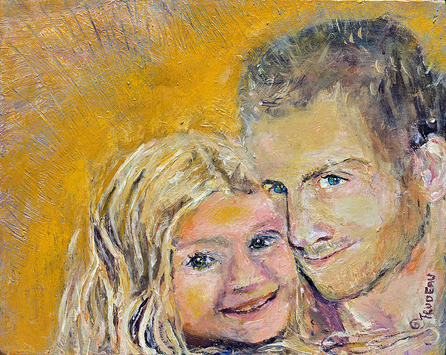 Christopher and his daughter Lily by Patricia Trudeau